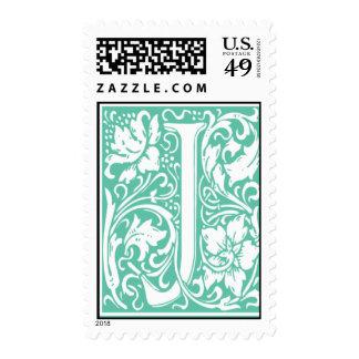 Letra inicial J de sello del monograma