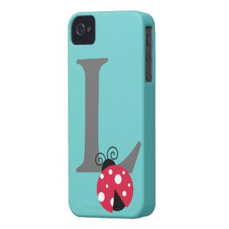 Letra inicial L personalizado lindo del monograma Case-Mate iPhone 4 Cárcasa