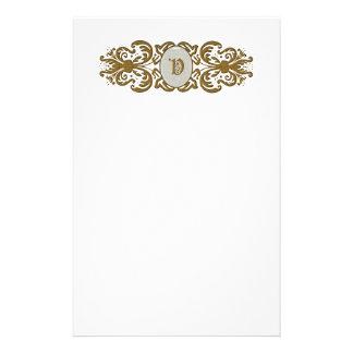 Letra inmóvil V del monograma adornado de la volut Papeleria De Diseño
