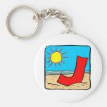 Letra J de las ideas del boda de playa Llaveros Personalizados