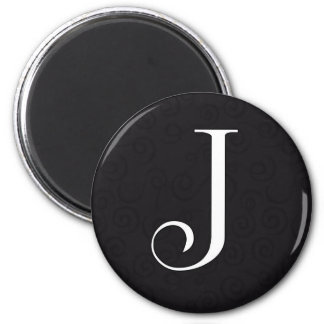 Letra J del monograma Imán Redondo 5 Cm