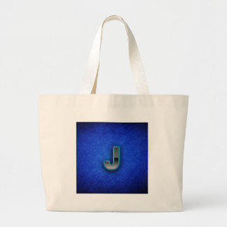 Letra J - edición azul de neón Bolsas