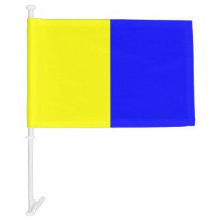 Letra K del kilo de la bandera de señal náutica
