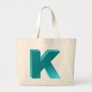 Letra K del monograma Bolsa Tela Grande