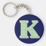 Letra K del monograma Llaveros Personalizados