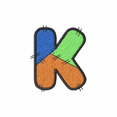 Letra K del remiendo Chaquetas Bordadas