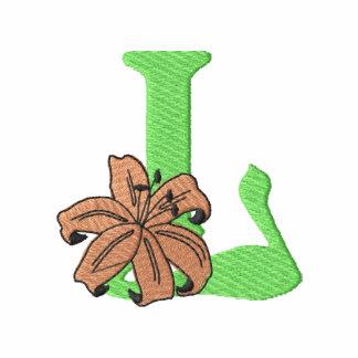 Letra L de la flor Polo Bordado