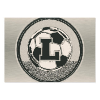 Letra L del monograma del fútbol del medallista de Tarjetas De Visita Grandes