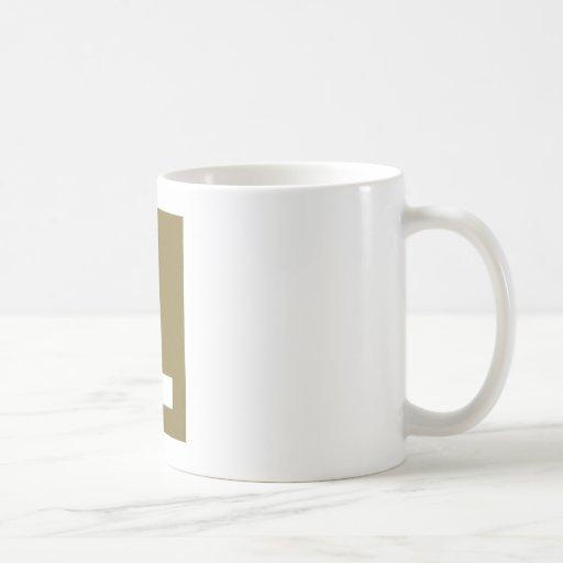 Letra L diseño Tazas De Café