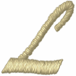 Letra L inicial del monograma del bordado Chaquetas Bordadas