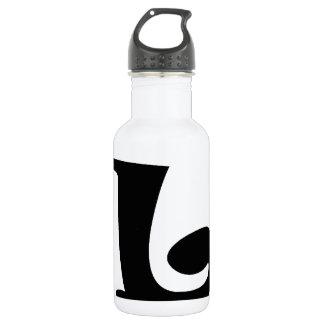 Letra L_large Botella De Agua De Acero Inoxidable