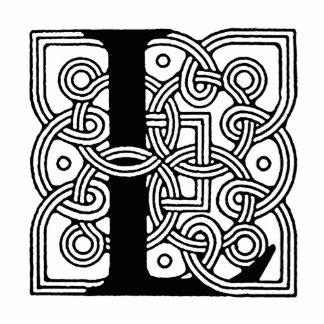 Letra L monograma céltico del nudo del vintage Escultura Fotografica