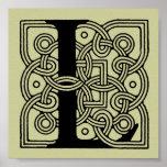 Letra L monograma céltico del nudo del vintage Impresiones
