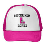 Letra L monograma en rosa del fútbol Gorra