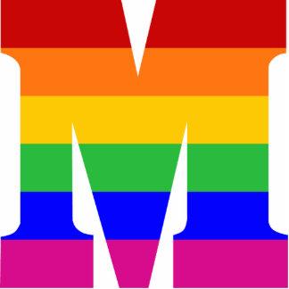 Letra M del arco iris Esculturas Fotograficas