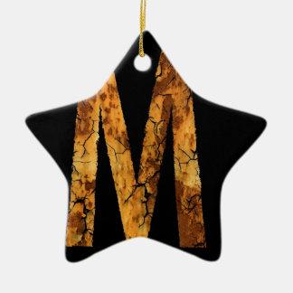 Letra M del error tipográfico Ornamento De Navidad