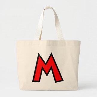 Letra M del monograma Bolsa Tela Grande