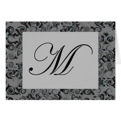 Letra M del monograma Tarjeta De Felicitación