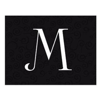 Letra M del monograma Postal
