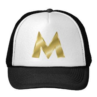 Letra M del oro Gorra