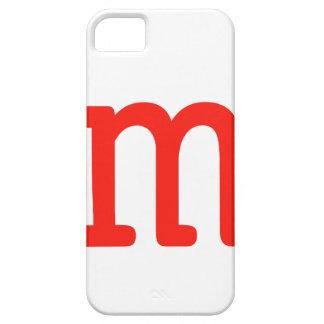Letra m iPhone 5 carcasa