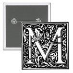 Letra M - Pin del alfabeto del estilo del renacimi