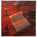 Letra manuscrita de Personalizable Servilletas
