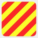 Letra marina náutica Y (yanqui) de bandera de Pegatina Cuadradas