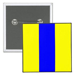 letra marítima del número ocho de la bandera de pin cuadrada 5 cm