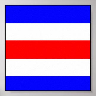 Letra marítima internacional de la bandera de impresiones