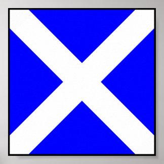 Letra marítima internacional de la bandera de posters