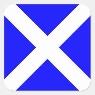 Letra marítima internacional de la bandera de pegatina cuadrada