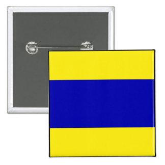 Letra marítima internacional de la bandera de pin cuadrada 5 cm