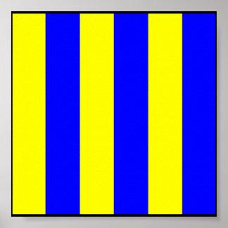 Letra marítima internacional de la bandera de póster