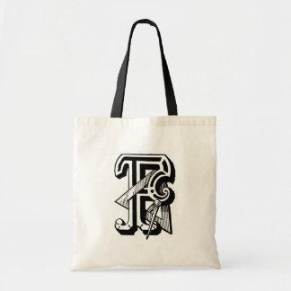 Letra masónica F de los símbolos de la caligrafía  Bolsas De Mano