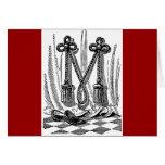 Letra masónica M de los símbolos de la caligrafía  Felicitación
