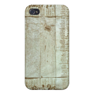 Letra medieval de la protesta del bohemio iPhone 4 carcasa