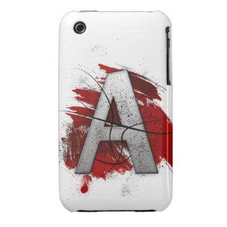 Letra mortal A del monograma del diseño Carcasa Para iPhone 3