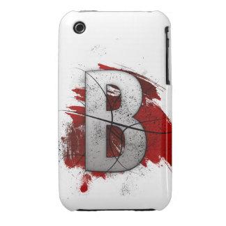 Letra mortal B del monograma del diseño Funda Bareyly There Para iPhone 3 De Case-Mate