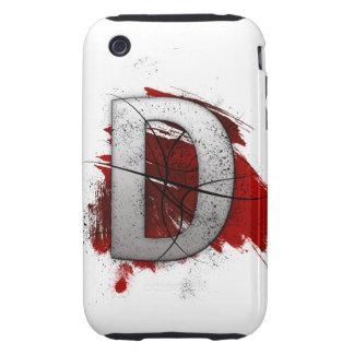 Letra mortal D del monograma del diseño Carcasa Though Para iPhone 3