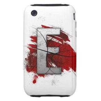 Letra mortal E del monograma del diseño Carcasa Though Para iPhone 3
