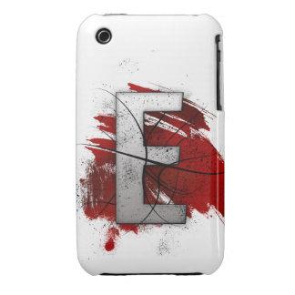 Letra mortal E del monograma del diseño Funda Para iPhone 3 De Case-Mate