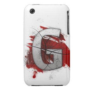 Letra mortal G del monograma del diseño Funda Bareyly There Para iPhone 3 De Case-Mate