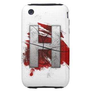 Letra mortal H del monograma del diseño Carcasa Though Para iPhone 3