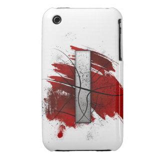 Letra mortal I del monograma del diseño Funda Bareyly There Para iPhone 3 De Case-Mate