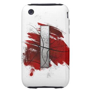 Letra mortal I del monograma del diseño Funda Though Para iPhone 3