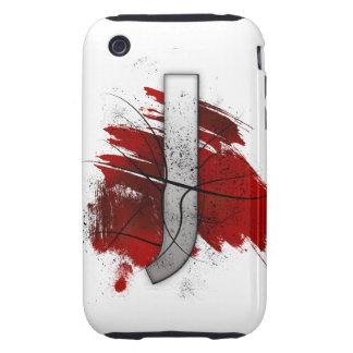 Letra mortal J del monograma del diseño Funda Though Para iPhone 3