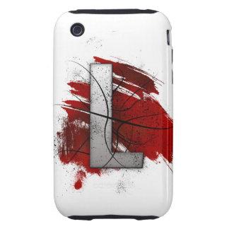 Letra mortal L del monograma del diseño Carcasa Resistente Para iPhone