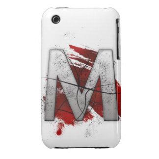 Letra mortal M del monograma del diseño Funda Bareyly There Para iPhone 3 De Case-Mate