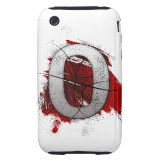 Letra mortal O del monograma del diseño Carcasa Though Para iPhone 3